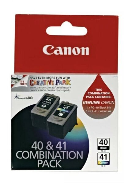 GENUINE Canon PG-40 PG40 + CL-41 CL41 Ink Cartridges For Pixma MP470 MP460 MP210