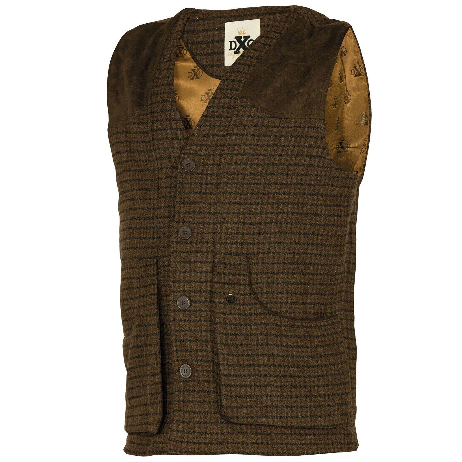 Deerhunter Beaulieu tweed gilet braun sans manches