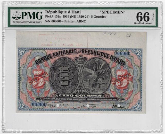 P- 232 Haiti 1980-1982 UNC /> François Duvalier L.1979 5 Gourdes