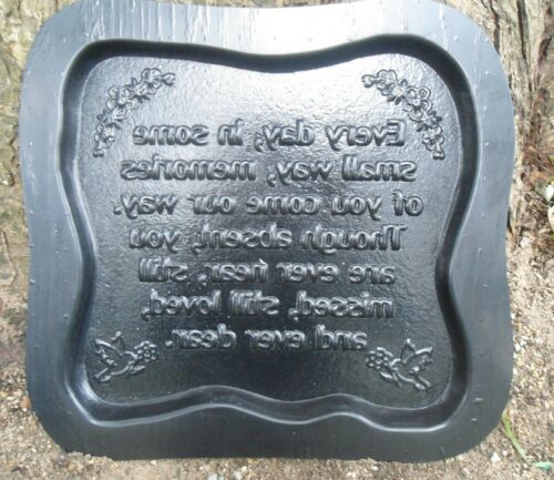 """Memorial mold dog animal people concrete plaster casting mold 11.5/"""" x 11/"""" x 3//4/"""""""