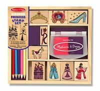 Melissa And Doug Wooden Princess Stamp Set , New, Free Shipping on sale