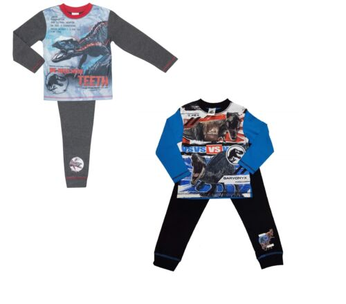 2 Pack Boys Jurassic World Pyjamas Age 4-12 Years Various Designs
