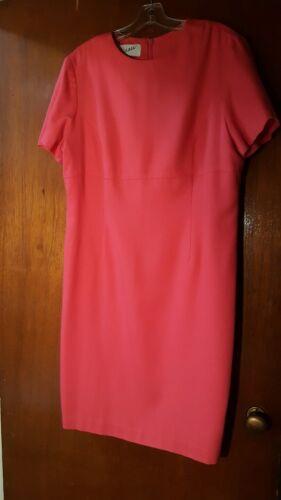 Vintage 80s Arnold Scaasi  Bright Pink Short Sleev