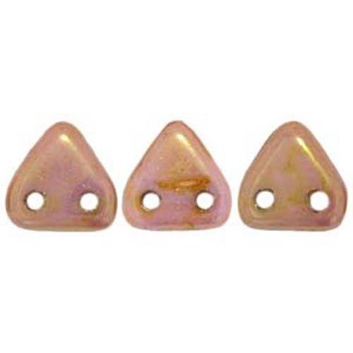 50PCS Czech Glass Triangle 2 Hole Beads 6mm CHOOSE COLOR!