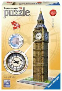 Ravensburger 3D Puzzle Big Ben mit Uhr 12586 216 Teile 125869 Neu & Ovp