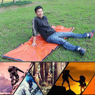 Orange Outdoor Camping Emergency Warm Heat Waterproof Survival Sleeping Bag IM