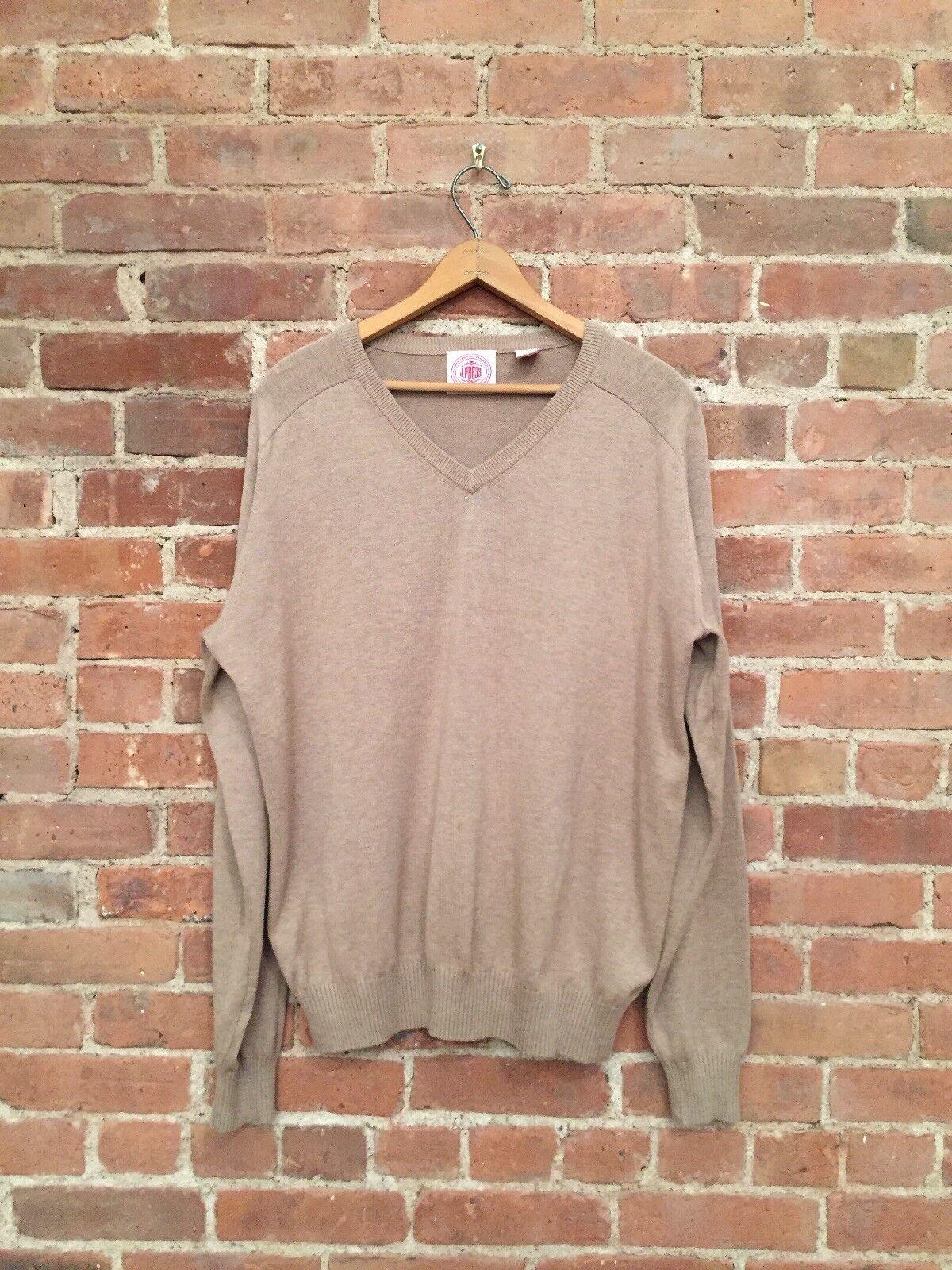 J. Press  Herren Sweater 100% Cotton Größe Medium, Beige