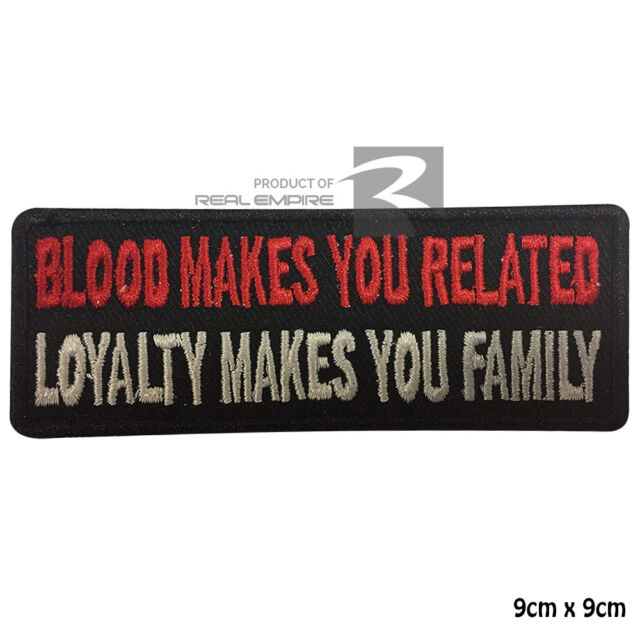 Blood Makes you related Biker Iron on Sew on Embroidered Patch