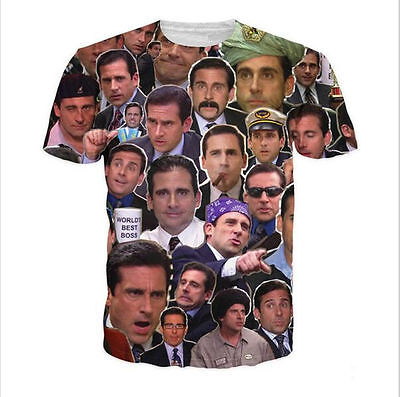 New Mens/Womens The Many Faces of Michael Scott 3D Print Casual T-Shirt CM454
