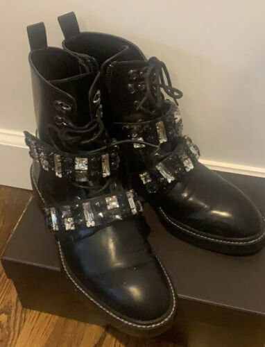 ZARA Leather Embellished Biker Boot SIZE 37