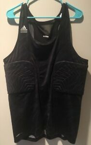 newest aae2f 73bc4 Details about ADIDAS Climacool Black Padded Basketball Shirt Size 3XT  RN#88387