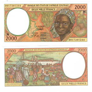 EQUATORIAL GUINEA 2000 Central African Francs (2000) P-503Ng UNC Banknote
