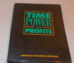 Time Power And Profits Set Cassettes And Book American Business Seminars Ebay