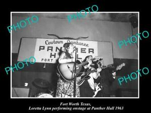OLD-8x6-HISTORIC-PHOTO-OF-FORT-WORTH-TEXAS-LORETTA-LYNN-AT-PANTHER-HALL-1963
