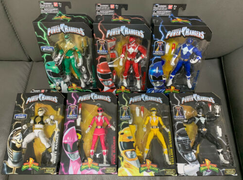 7 Power Rangers Legacy Collection Set BAF Megazord White yellow red green blue