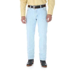 WRANGLER-Mens-Cowboy-Cut-Slim-Fit-Medium-Wash-Blue-Denim-Jeans-IRREG-13MWZGH-NWT