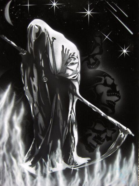 Reaper Stencil Airbrush Stencil R.I.P REAPER