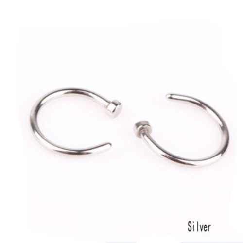 Surgical Stainless Steel Nose Open Hoop Nose Ring Studs Nose Earring Jewelry