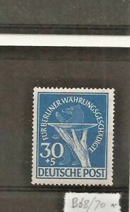 GERMANY BERLIN SG B70, RELIEF 30+5pf 1949 EXPERTISED SCHLEGEL BPP MNH (2 scans).