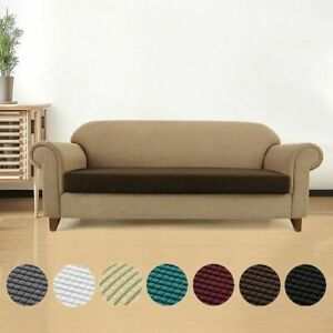 1-4 Seats Waterproof Stretchy Sofa Seat Cushion Cover Couch Slipcovers Protector