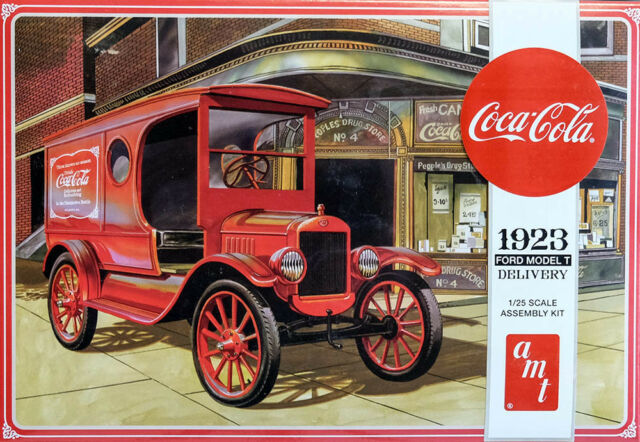 1923 Ford Model T Delivery Coca-Cola 1:25 AMT Model Kit Bausatz AMT1024