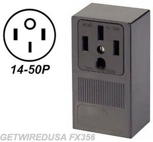 Range Stove Oven Wall Outlet Female 14 50r 4 Prong Plug In Box 220