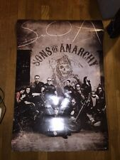 Sons of Anarchy SOA Motorcycle Gang FX TV Series Poster 24x36 Blood Splatter