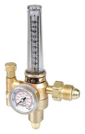 CO2 Mix,CGA-580 VICTOR 0781-2728 Flowmeter Reg,Cyl.,Ar