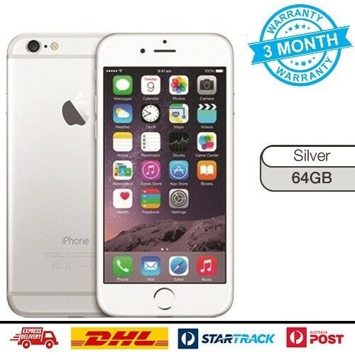 AS NEW Apple iPhone 6 64GB Silver Unlocked 4G GSM LTE Smarthone Mobile Phone
