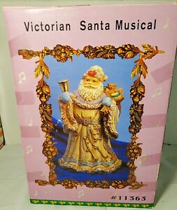 """Vintage Victorian Santa Musical I'm Dreaming Of A White Christmas 9-1/2"""""""