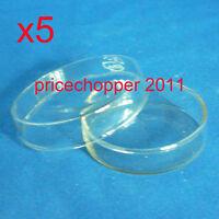 5 glass tissue culture plate petri dish lab 60 mm New