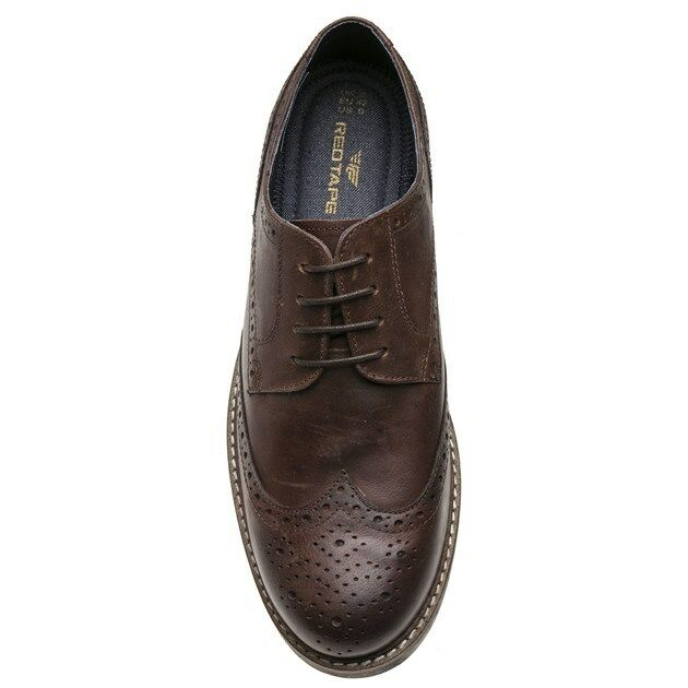 New Mens ROT Tape Brogue Braun Rydal Leder Schuhes Brogue Tape Lace Up 842381