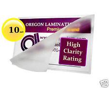 (500) 10 Mil School ID Card Hot Laminating Pouches 2-1/2 x 3-5/8 Clear OregonLam