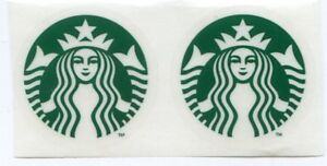 Details About 2 Authentic Starbucks Small New Logo Stickers 1 12