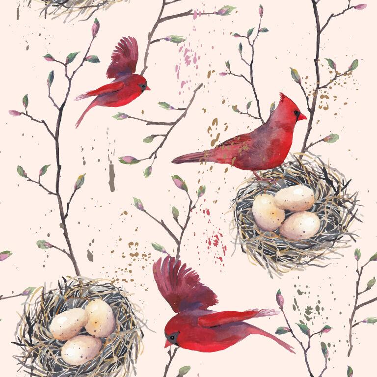 3D Birds Nests 992 WallPaper Murals Wall Print Decal Wall Deco AJ WALLPAPER