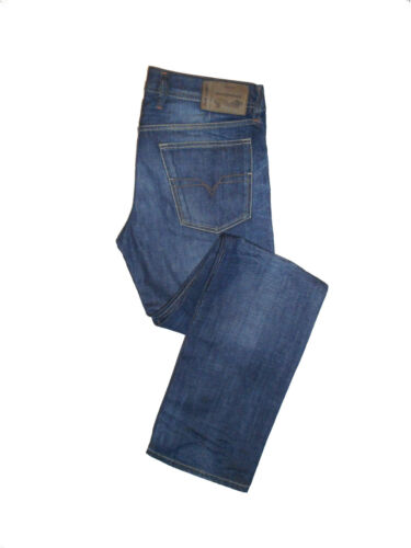 BNWT Diesel WAYKEE Regular Straight W32 L34  Mens Blue Denim Jeans
