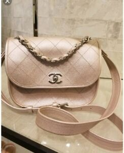 e1ffd65d00ad NWT $4000 Chanel Rose Gold Leather Jungle Stroll crossbody messenger ...