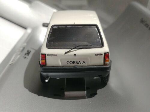 Vauxhall Nova Opel Corsa A 1982 Luxus blanc 1//43 Schuco GM Concessionnaire Exclusif