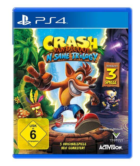PS4 Game Crash Bandicoot 1+2+3 N. Sane Trilogy DHL Express Delivery NEW