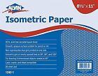 "Alvin Isometric Sketch Paper 20 LB 8.5"" X 11"" Non Photo Blue Grid 100pk"