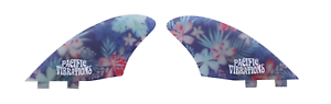 PACIFIC-VIBRATIONS-FCS-TWO-TAB-SURFBOARD-CUT-AWAY-KEEL-FISH-TWIN-FIN-Flower