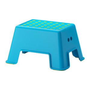 Ikea Bolmen Hocker Kindertritt Kinder Stufe Blau Tritthocker Badezimmerhocker Ebay