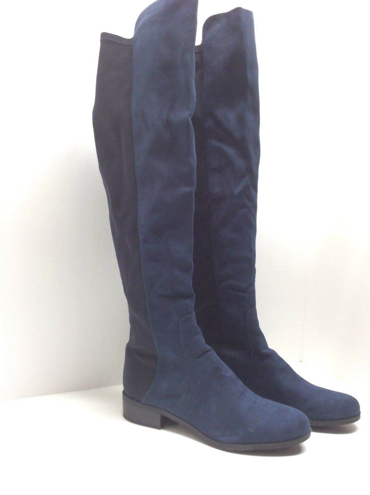 Unisa    Indyia  Stretch Over The Knee Boot Navy Black Size 6.5M   38-2 ab1540