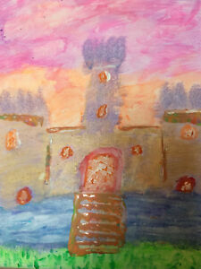 Paul-Morabito-Original-Acrylic-on-Canvas-Painting-Hand-Signed-034-Castle-034-with-COA