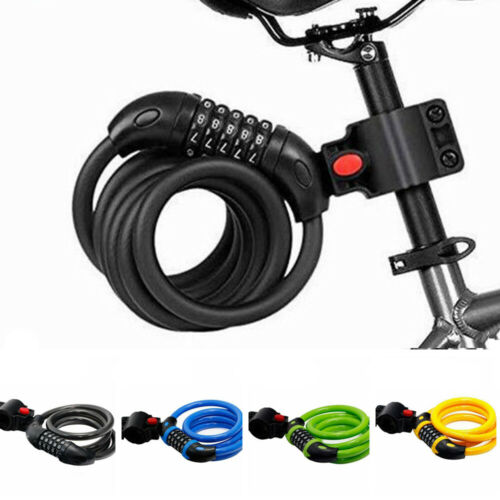 Security Cycling Bicycle Lock 5 Digit Code Bike Accessories Scooter Safety