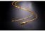 CHAINE-EN-OR-JAUNE-18-CARATS-COLLIER-MALLES-FORCATS-UNISEXE-45-CM-NEUF miniature 1