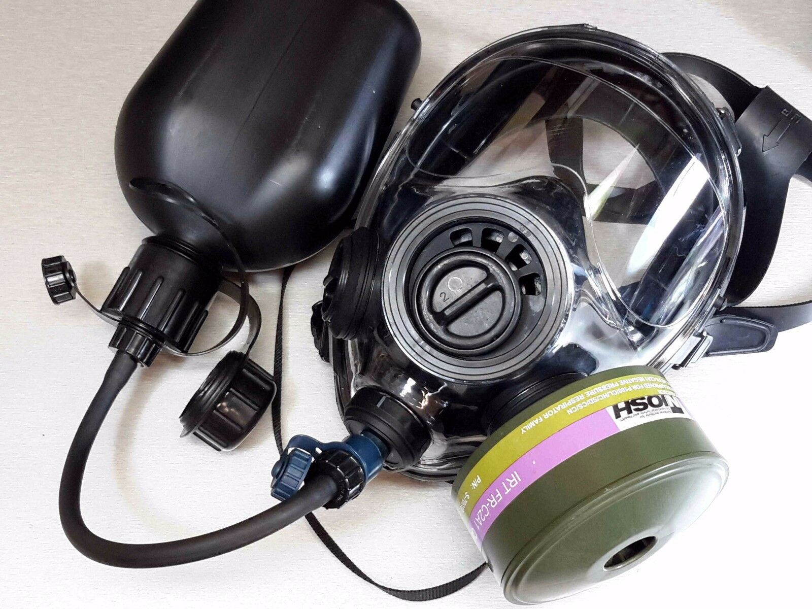 40mm NATO Gas Mask SGE INFINITY w Drink System & CBRN Approved Filter xd 06 2024