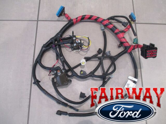 02-03 super duty oem ford engine wiring harness 7 3l diesel w/auto