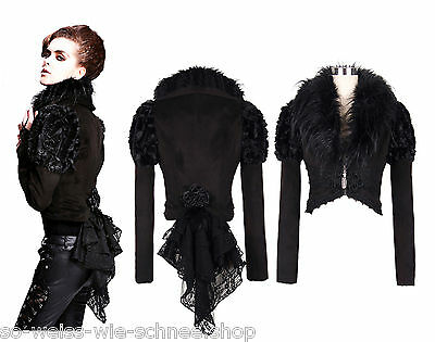 Devil Fashion Gothic Gehrock Jacket Nugoth Steampunk Jacke Samt Coat Frack 05301