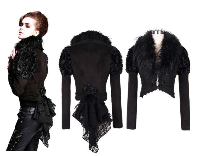 Devil Fashion Gothic Gehrock Jacket Nugoth Steampunk Jacke Samt Coat Frack 05301